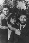 Menachem Begin as a child with his parents